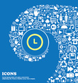 alarm icon Nice set of beautiful icons twisted vector image vector image