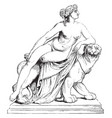 ariadne was very successful in his treatment of vector image vector image