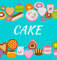 banner design template with cakes vector image