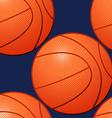 Basketball seamless pattern vector image vector image