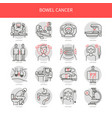 bowel cancer line icons vector image vector image