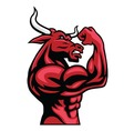 Bull Bodybuilder Posing His Muscular Body vector image