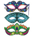 carnival face masks vector image