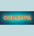carnival festive card design retro fonts with vector image vector image