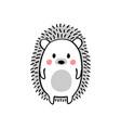 cartoon doodle cute hedgehog vector image
