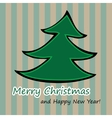 Christmas and New Year Postcard vector image vector image