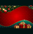 christmas background with golden gift and pattern vector image vector image
