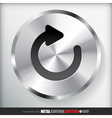 Circle Metal Reload Button Applicated for HTML and vector image vector image