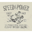 Classic motorcycle racing vector image vector image
