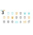 coffee to go food ui pixel perfect well-crafted vector image