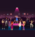 concert performance disco party with modern music vector image