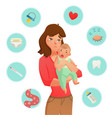 crying baby reasons composition vector image
