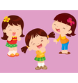 Cute girl happiness vector image vector image