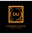 du letter initial with royal luxury logo template vector image vector image