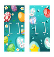 easter card with spring flowers and cute babunn vector image vector image