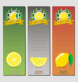 for ripe fruit yellow lemon vector image