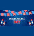 fourth july independence day banner american vector image vector image