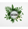 Frame floral green vector image vector image
