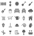 Gardening icons on white background vector image vector image