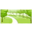 Green Landscape and path vector image vector image