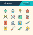 halloween icons filled outline design collection vector image vector image