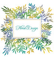 Hand drawn color floral background