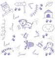 Happy animal doodle art vector image vector image
