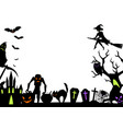 happy halloween greeting card with celebration vector image vector image