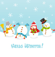 Hello Winter Card vector image vector image