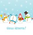 hello winter card vector image vector image