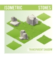 Isometric Stones and lawn vector image vector image