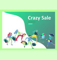 landing page templates people running for sale vector image