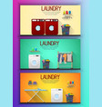 laundry room interior with two washing machines vector image