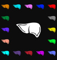 Liver icon sign Lots of colorful symbols for your vector image vector image