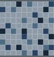 old blue tile pattern vector image vector image
