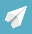 paper plane icon papercraft origami airplane vector image vector image