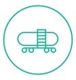 Railway cistern line icon vector image vector image