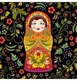 russian doll vector image vector image