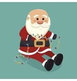 santa claus with lights isolated icon design vector image