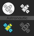 satellite dark theme icon vector image vector image