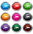 security camera set 9 collection vector image vector image