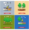 set of tennis ping pong and badminton vector image