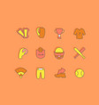 set simple line icons baseball vector image vector image
