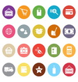 Shopping flat icons on white background vector image vector image