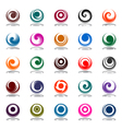 spiral movement in circle shape vector image vector image