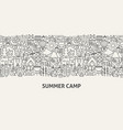 summer camp banner concept vector image