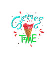 Summer time slogan print with matermelon