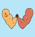 symbol armrestling cartoon vector image vector image