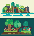 Tropical and forest landscapes vector image vector image