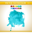 Turquoise Watercolor Artistic Splash for Design vector image vector image